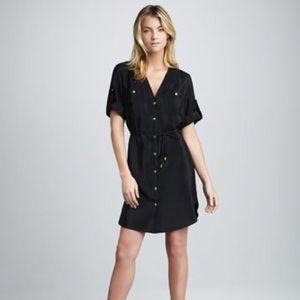 NWOT Amanda Uprichard Black Button Front Dress